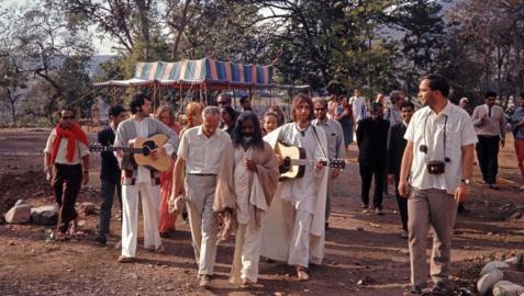 Imagen del viaje de 'The Beatles' a la India en 1968.  SEMINCI  01/10/2021 Imagen del viaje de 'The Beatles' a la India en 1968.