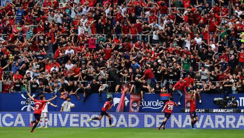 Fotos del encuentro entre Osasuna y el Rayo Vallecano.