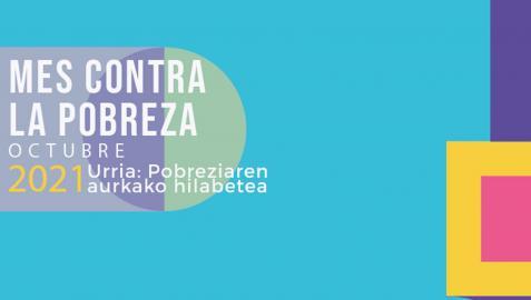 Cartel de las jornadas 'Octubre: mes contra la pobreza'.