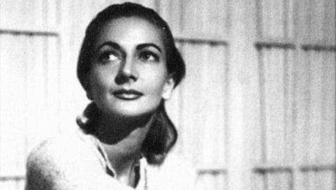 María Luisa Elío, escritora y actriz, en una foto de su juventud