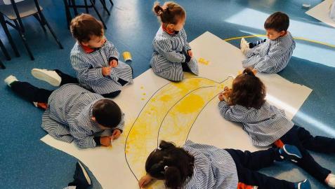 Alumnos de infantil del Liceo Monjardín
