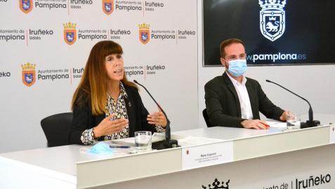 Los concejales Maite Esporrín y Xabier Xagardoy