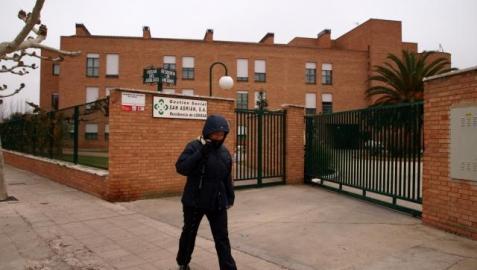 Exterior de la residencia de ancianos de Lodosa, uno de los centro que dirige Gestión Social. J.A. VAQUERO