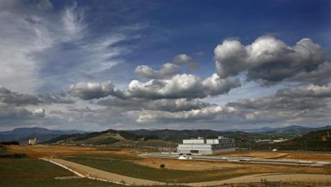 El polígono industrial de Estella sólo está urbanizado en parte. ARCHIVO