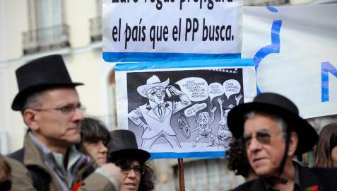 Protesta contra Eurovegas en Madrid
