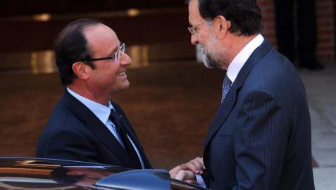 Rajoy recibe a Hollande para analizar la crisis de la eurozona