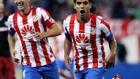 Fenomenal Falcao en el triunfo colchonero sobre el Athletic de Bilbao (4-0)
