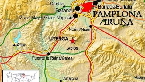 Un terremoto de magnitud 4.0 se deja sentir en media Navarra