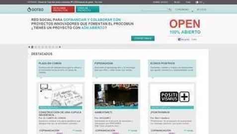 Página web de Goteo, plataforma de 'crowdfounding'.