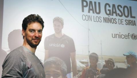 Pau Gasol hace un llamamiento para ayudar a la población siria