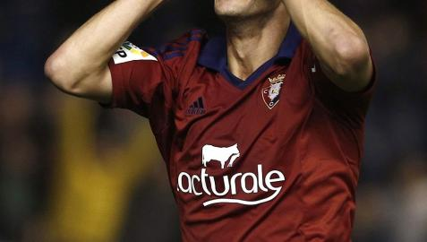 Imágenes correspondientes al encuentro entre rojillos y madrileños disputado en el estadio El Sadar con victoria local con goles de Oier, Oriol Riera y Roberto Torres.