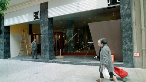 Los cines Olite, durante una reforma