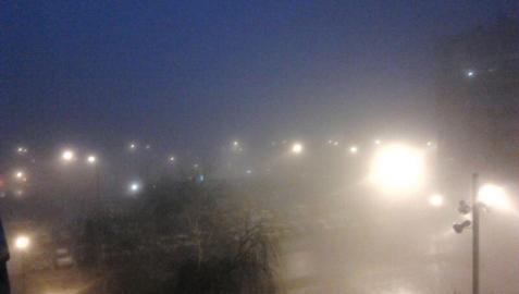 Navarra amanece cubierta por la niebla tras varios días de lluvia