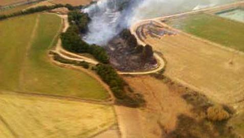 Investigan la posible intencionalidad de los incendios de Ribaforada