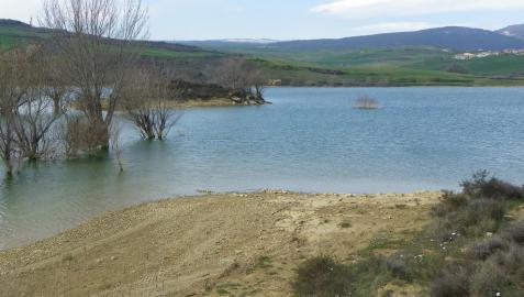 Los embalses navarros del Ebro superan el 50% de su capacidad