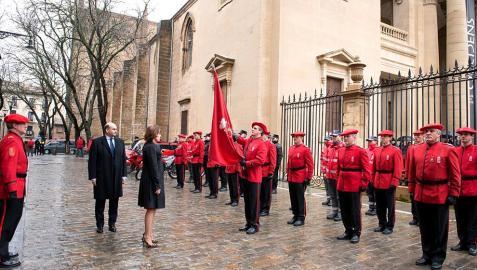 Reconocimientos y condecoraciones con motivo de la celebración del día del cuerpo celebrado en Pamplona.