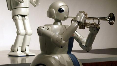 Los robots humanoides y su talento, en Madrid