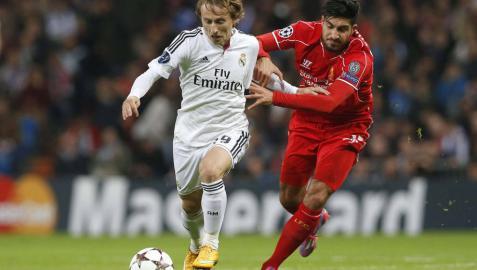 Modric, contra el Liverpool