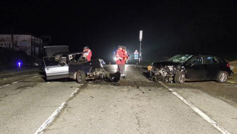 Dos heridos, uno de ellos con pronóstico grave, en una colisión en Larraun