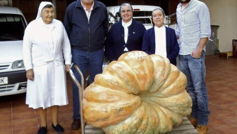 Donan una calabaza gigante al Banco de Alimentos de Cáceres