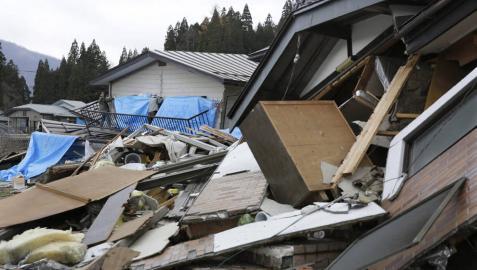 Aumentan a 39 los heridos por el terremoto de 6,8 en Japón