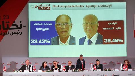 Essebsi y el expresidente Marzuki, a la segunda vuelta en Túnez
