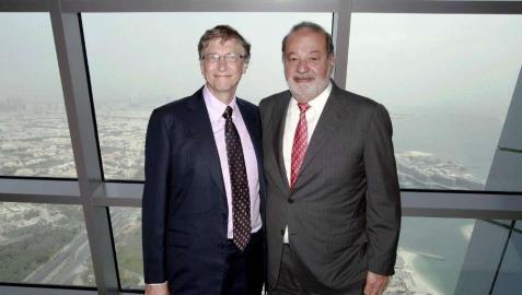 Bill Gates y Carlos Slim unen sus fortunas para erradicar la polio