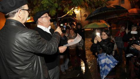 Homenaje a la boina y la Elástica tudelana en la plaza de San Jaime