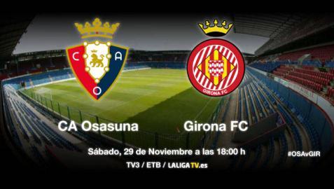 Retransmisión en directo del Osasuna-Girona
