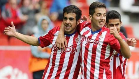 Un gol de Carlos Castro y otro de Sergio dieron el triunfo al Sporting de Gijón.
