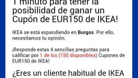 Una nueva estafa vía WhatsApp ofrece un vale de 150€ para Ikea