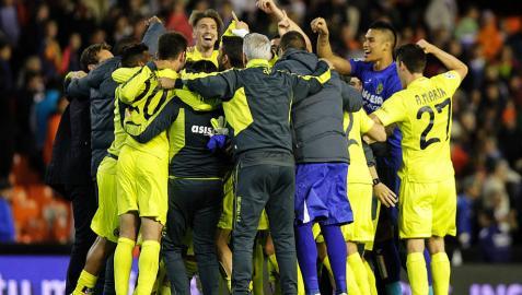 El Villarreal se asegura la Champions y Mestalla se harta