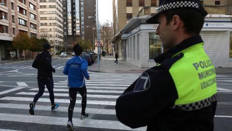 Dos heridos leves y siete accidentes de tráfico el martes en Pamplona