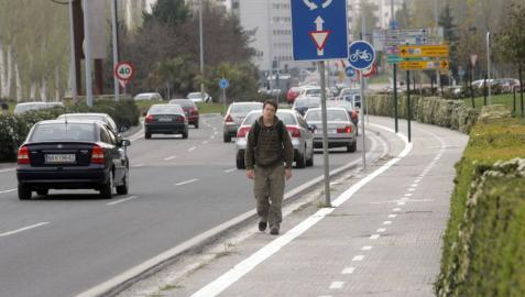 Instalan en Pamplona un pavimento que reduce la contaminación