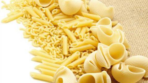 Diferentes tipos de pasta.