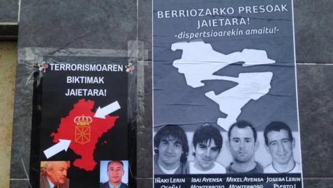 Covite coloca carteles de víctimas en respuesta a otros con miembros de ETA
