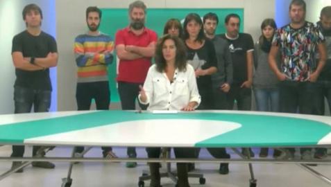 Despedida de los trabajadores de Nafar Telebista.