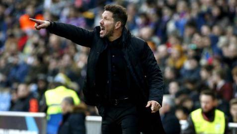 Simeone, en un partido.