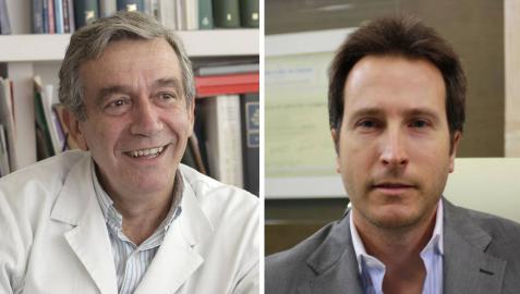 El pediatra Javier Molina (i) y el cirujano plástico Ricardo Ruiz de Erenchun (d).