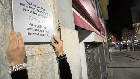 Covite pide placas en recuerdo para 42 víctimas del terrorismo en Navarra