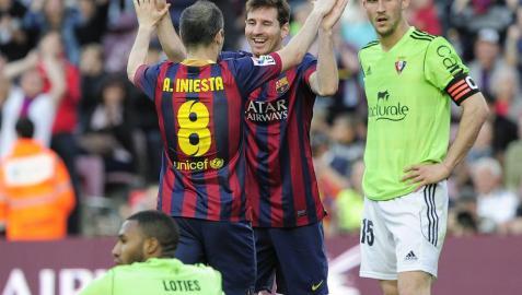 Barcelona, mal destino para Osasuna en las temporadas de los descensos