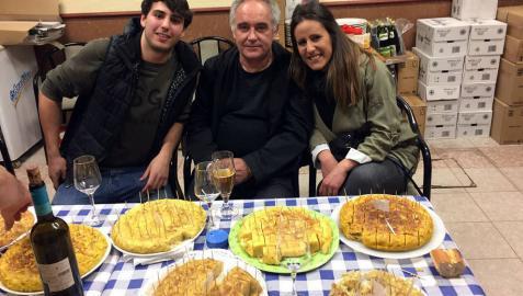 Ferran Adrià, de tortillas en Monteagudo
