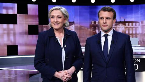 Le Pen acusa a Macron de