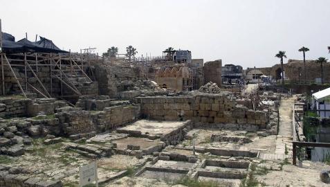 La ciudad antigua de Cesarea desentierra el templo pagano de Herodes