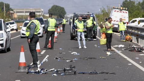 Muere uno de los ciclistas heridos en Oliva, lo que eleva a 3 los fallecidos