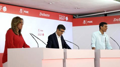 Las 21 frases del debate decisivo de las primarias del PSOE del 21 de mayo