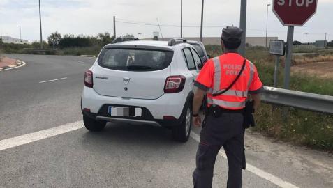 Denunciado en Funes un conductor tras dar positivo en cuatro drogas