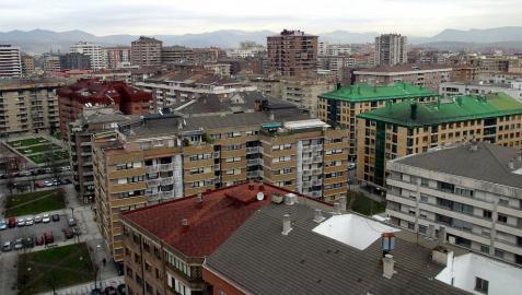 Vista aérea del barrio de Iturrama.