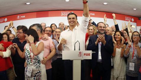 Sánchez logra una victoria clara, homogéna y con sorpresa