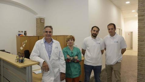 De izquierda a derecha, David Llobera Rabella, Alicia Martínez Zalbide, Manuel Roca Vives y Mikel Arrizabalaga.